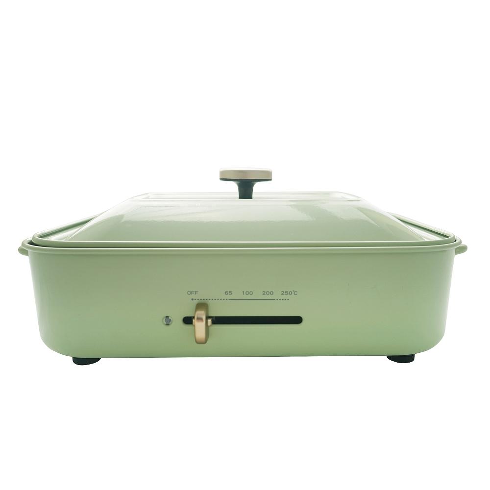 綠恩家enegreen|日式多功能烹調電烤盤(田園綠)KHP-770TG