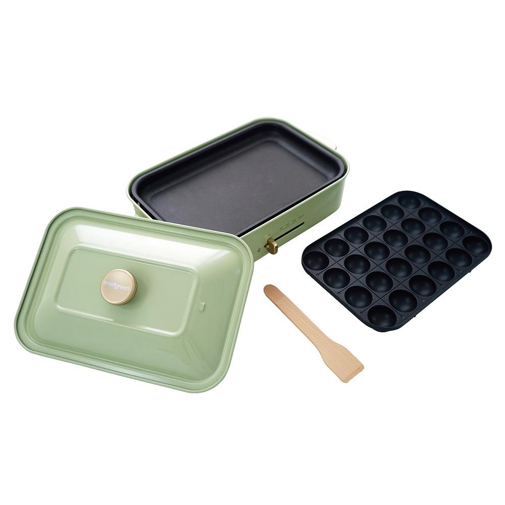 綠恩家enegreen|日式多功能烹調烤爐(田園綠)KHP-770TG
