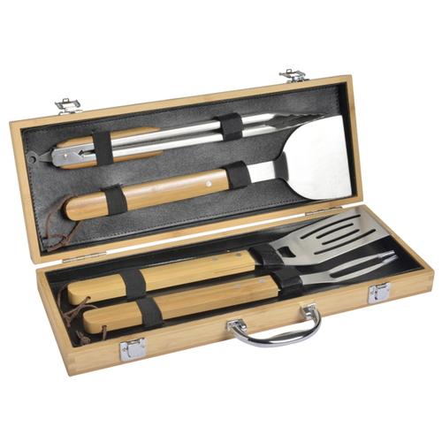 法國mastrad | 竹柄不銹鋼燒烤專用工具組