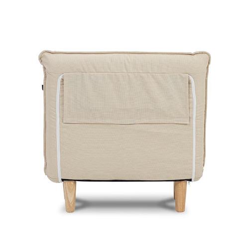 AJ2 奧圖 花瓣米白 單人座沙發床