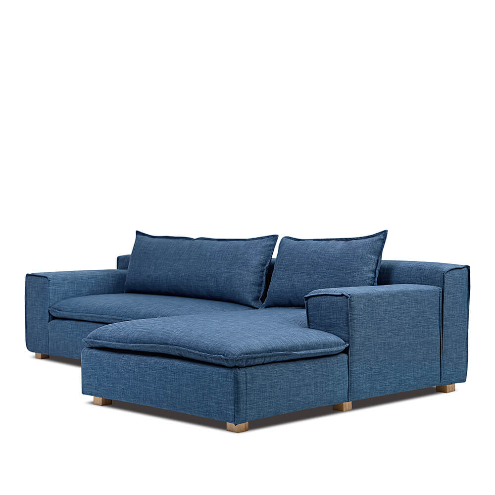 AJ2 奧斯陸 紳士瓦藍 L型沙發