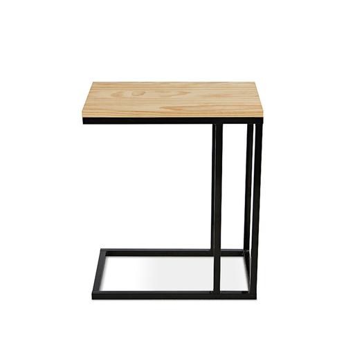 AJ2 胡桃 工業黑 設計邊桌