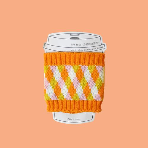 studio chiia好耘設計|針織環保隔熱杯套(橘色)