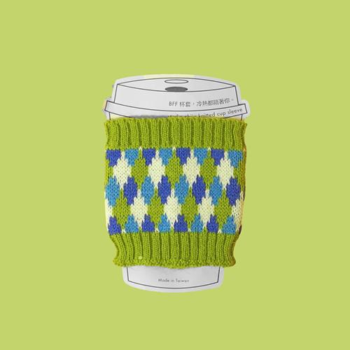 studio chiia好耘設計|針織環保隔熱杯套(綠色)