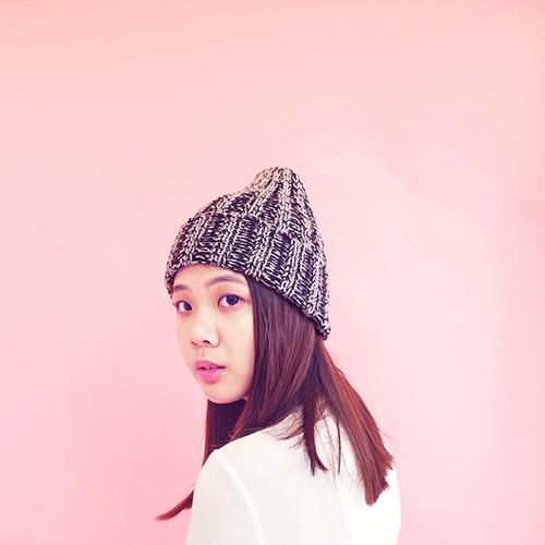 studio chiia好耘設計|秘魯羊駝毛-手工毛帽 (黒色)