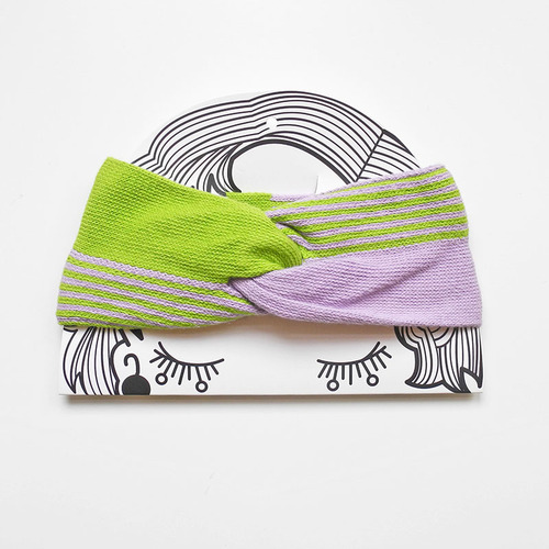 studio chiia好耘設計|法式手工髮帶|淺綠+淺紫