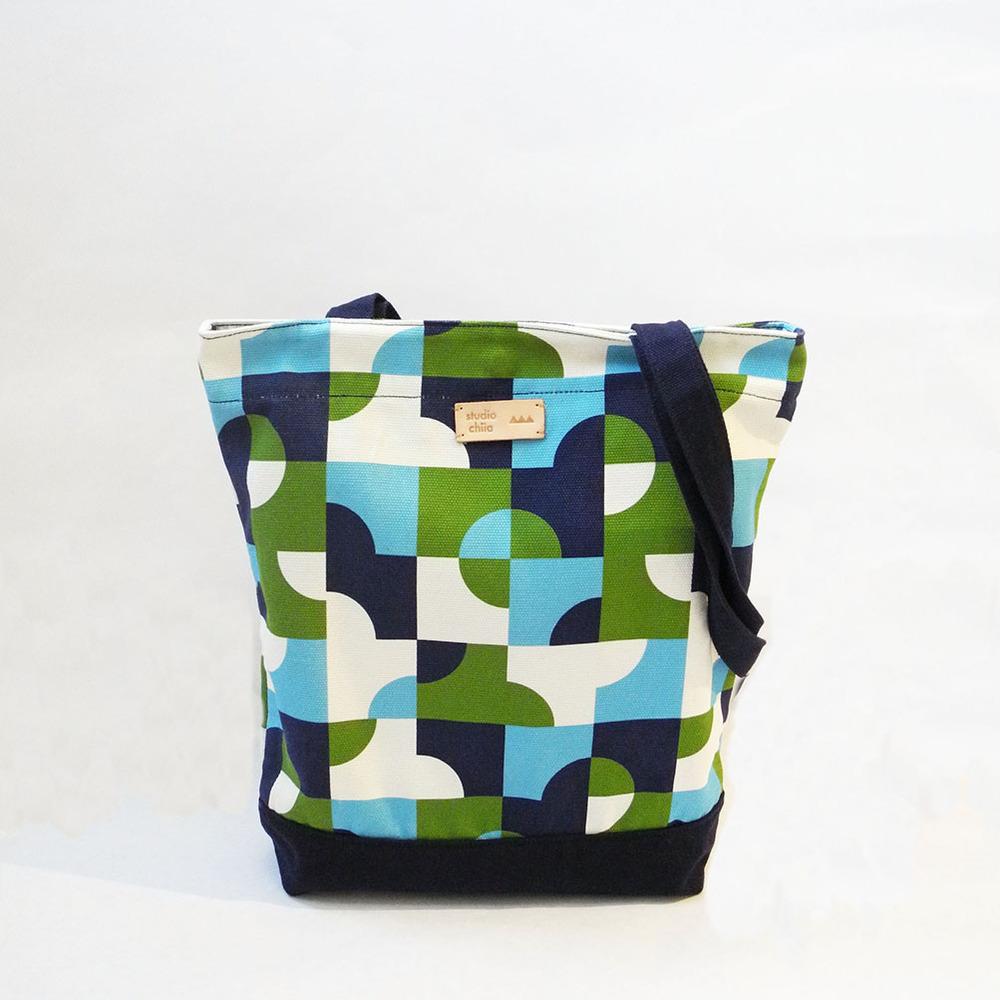 studio chiia好耘設計|印花托特包-池畔紋樣 | 藍