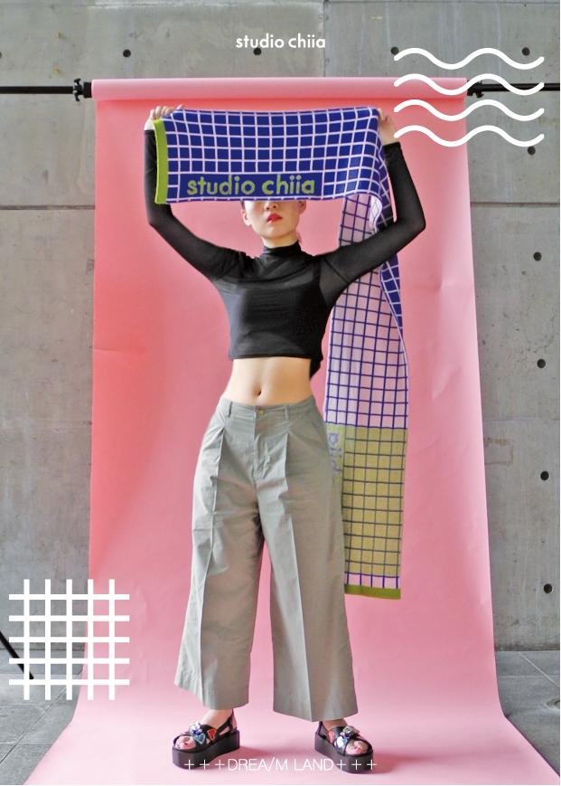 (複製)studio chiia好耘設計|針織雙面圍巾(淺藍方格)