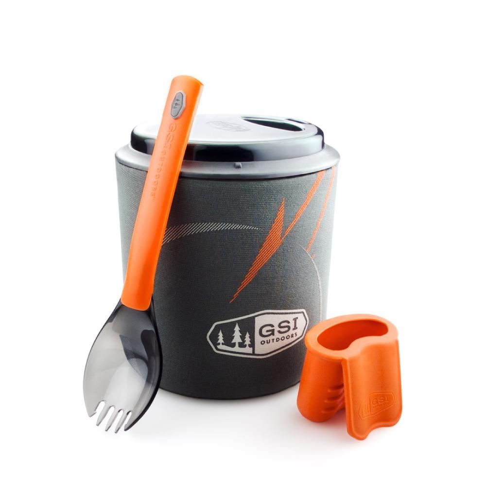 美國GSI|Halulite Minimalist 陽極氧化鋁合金個人鍋組含湯叉