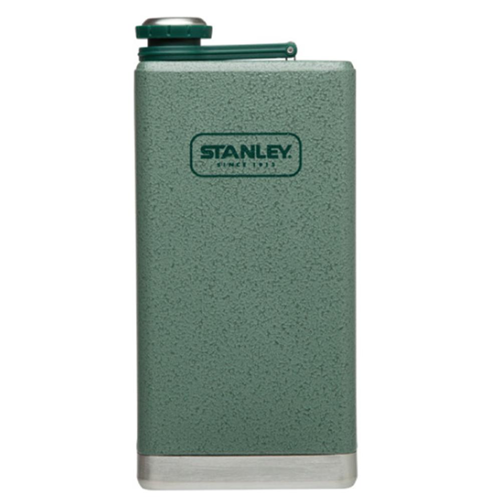 美國Stanley|SS經典酒壺236ml(錘紋綠)