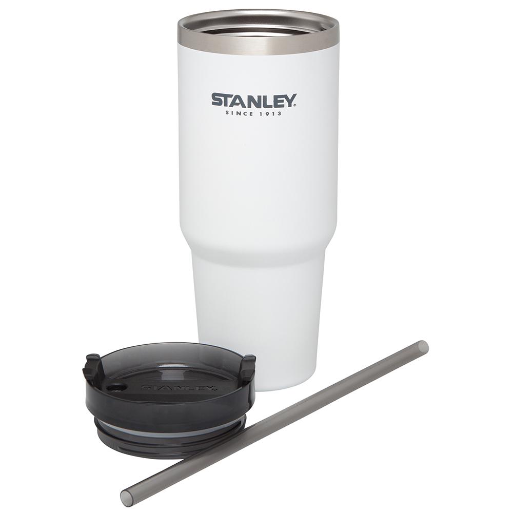 美國Stanley | 冒險系列手搖飲料吸管杯0.88L-純淨白