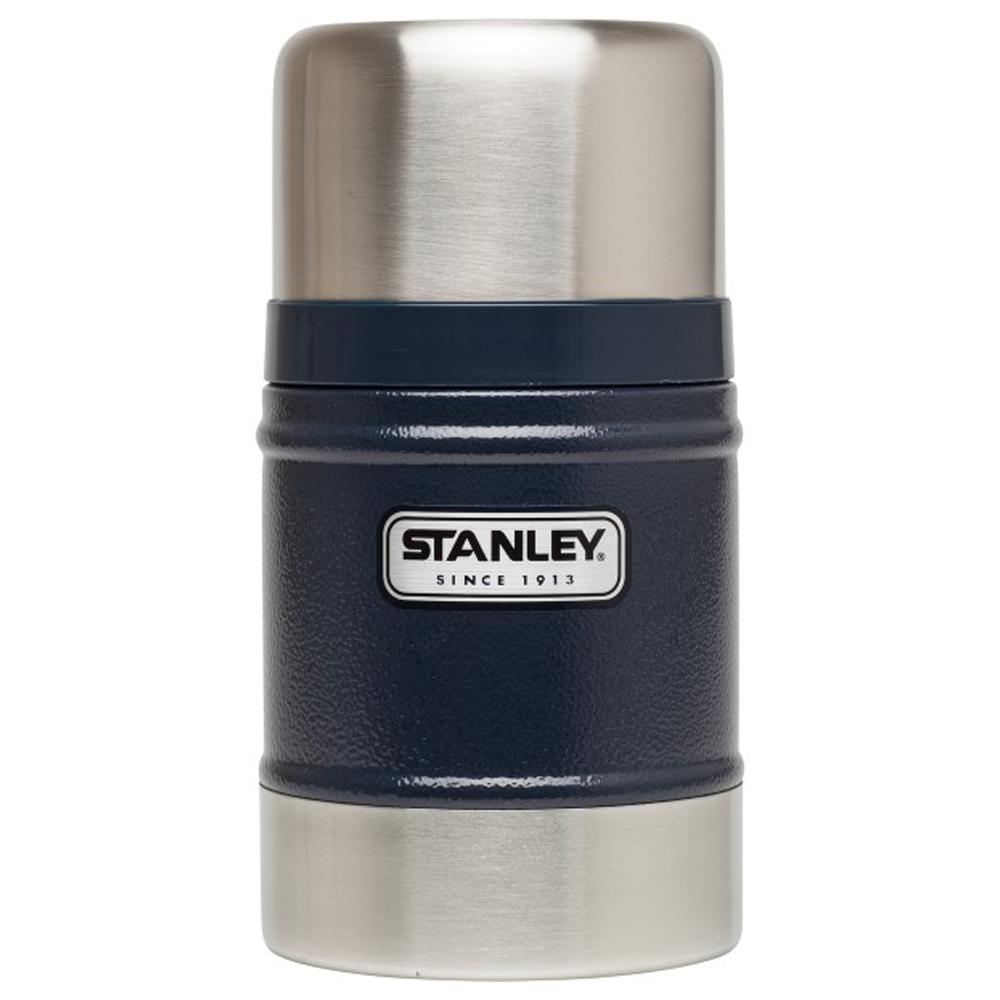 美國Stanley 經典不鏽鋼真空保溫食物悶燒罐502ml(錘紋藍)