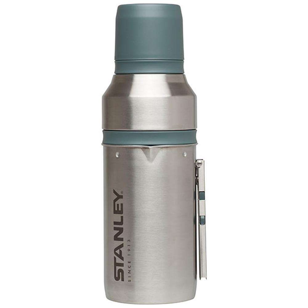 美國Stanley|露營系列手沖真空保溫咖啡瓶組1L-不鏽鋼原色