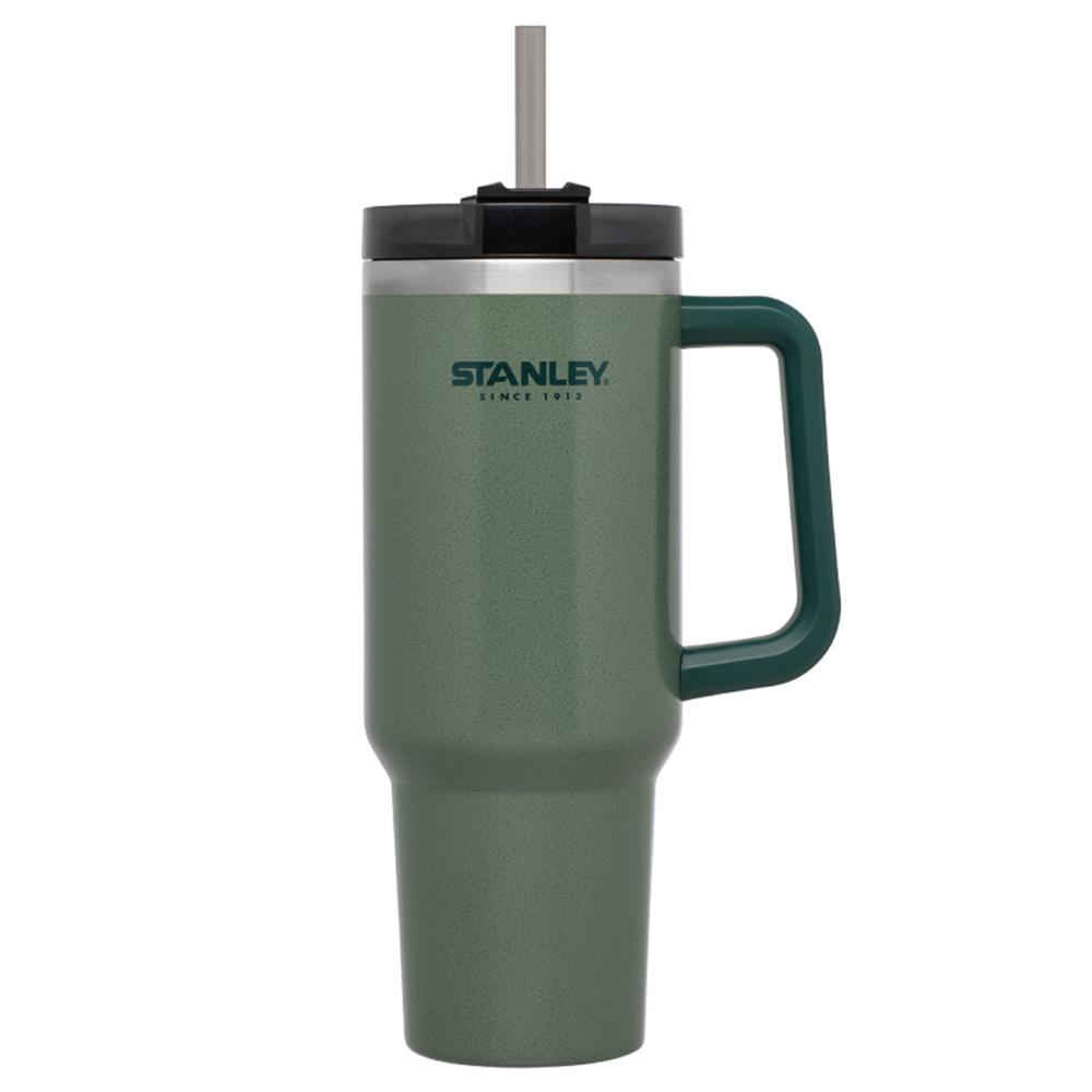 美國Stanley | 冒險系列吸管總裁杯1.1L-錘紋綠