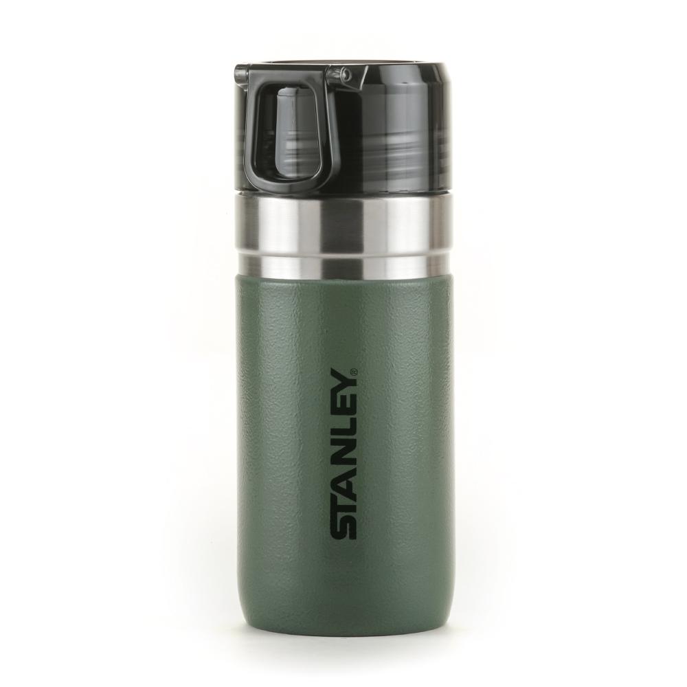 美國Stanley GO 系列提環隨行保溫瓶0.47L-錘紋綠
