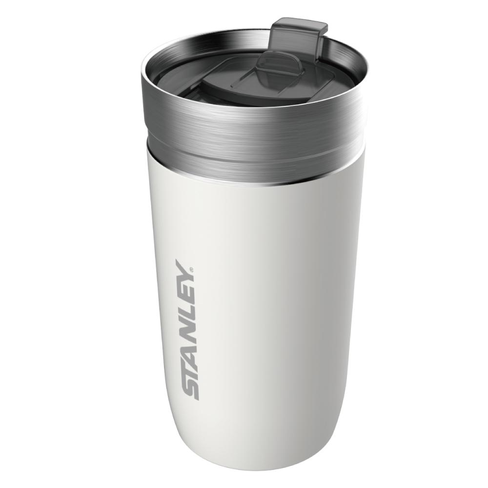 美國Stanley|GO 系列單手滑蓋保溫咖啡杯0.47L-雪花白