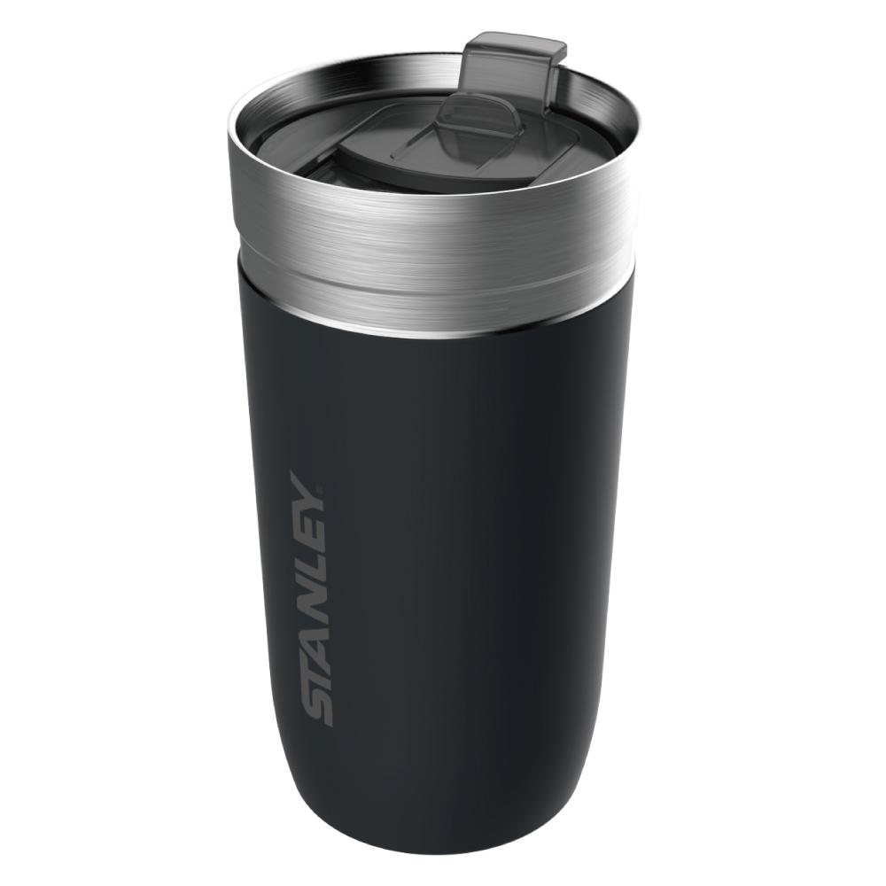 美國Stanley|GO 系列單手滑蓋保溫咖啡杯0.47L-消光黑