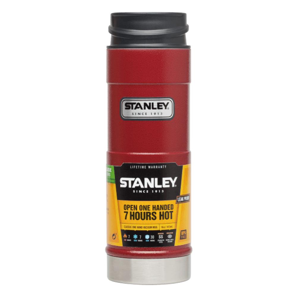 Stanley|經典單手保溫咖啡杯 473ml(錘紋紅)