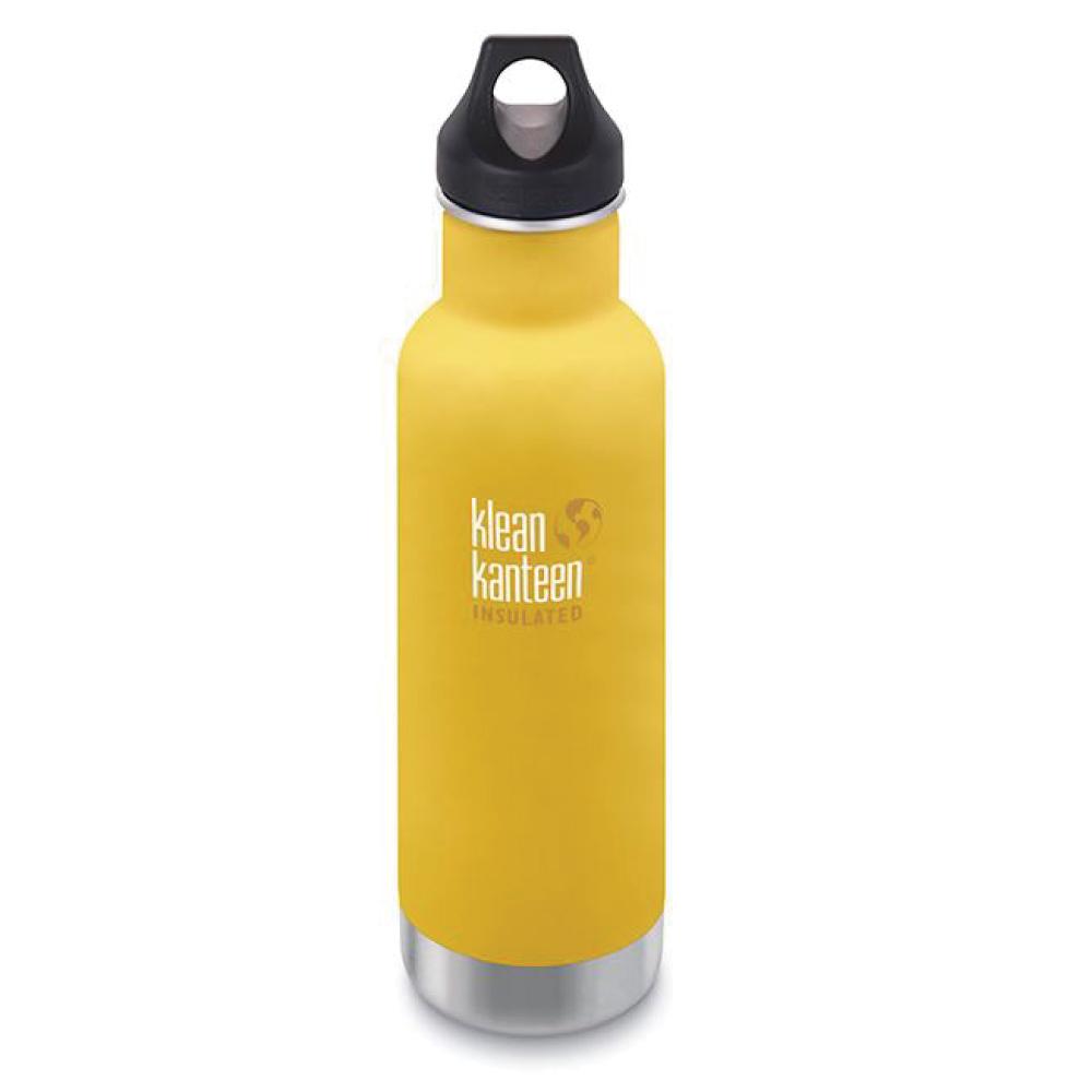 美國Klean Kanteen 窄口不鏽鋼保溫瓶-592ml-萊姆黃
