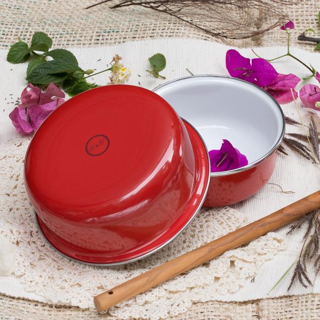 峇里島 Wind & Whisper 南洋琺瑯烤盤/烤碗2件組-豔陽