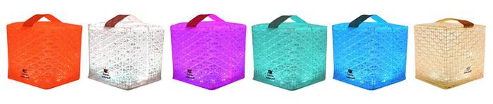 SOLIGHT DESIGN|【變形提把】發光泡芙Solarpuff-太陽能LED摺疊燈-彩虹