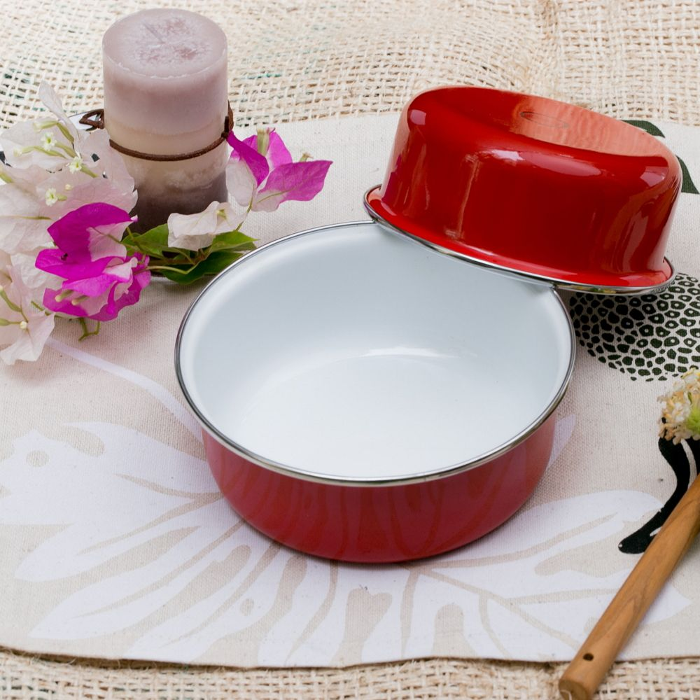 峇里島 Wind & Whisper|南洋琺瑯烤盤/烤碗2件組-豔陽