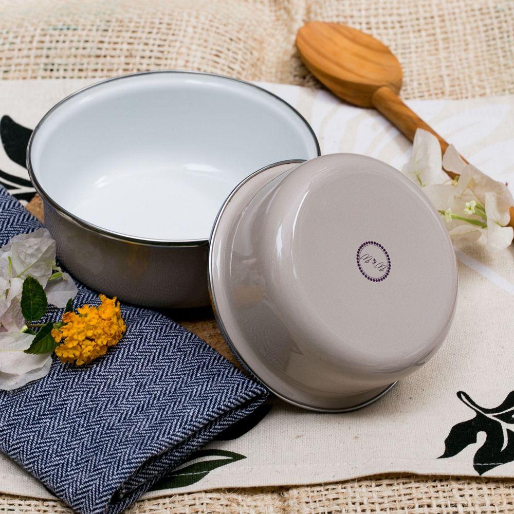 峇里島 Wind & Whisper|南洋琺瑯烤盤/烤碗2件組-白沙