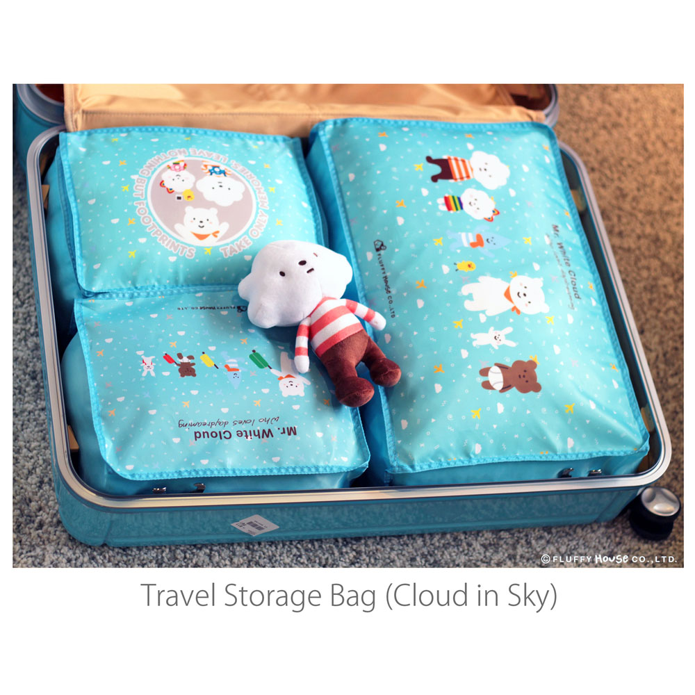 Fluffy House|旅行袋-Storage Bag Set (Cloud in sky) 天空版