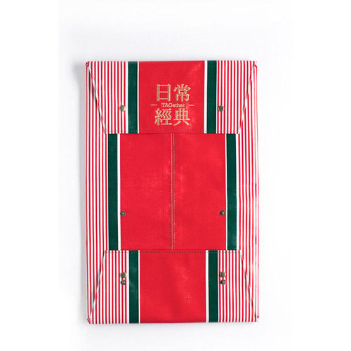 TAGather Goods|Flat Piece-紅綠條紋(紅)
