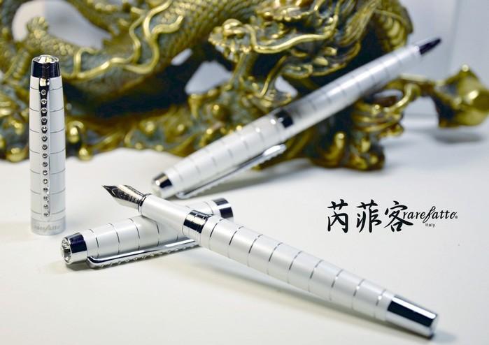 (複製)rarefatto 巴洛克銀藍色鋼筆