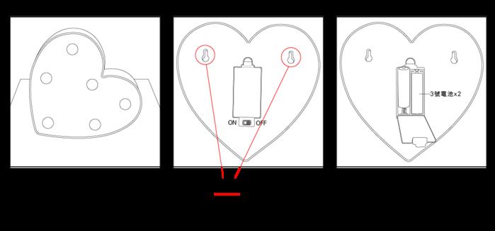 大力女 造型LED小夜燈-紅鶴