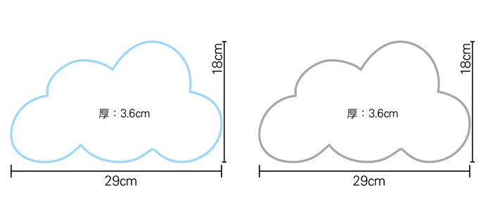 大力女|造型LED小夜燈-白雲朵