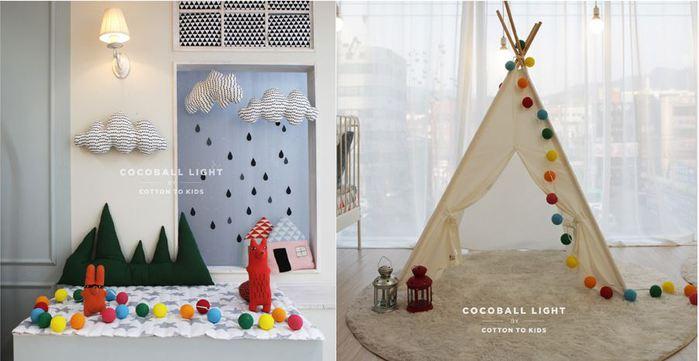 (複製)Cotton to Kids|Cocoball Light LED氣氛棉球燈串(baby pastel)