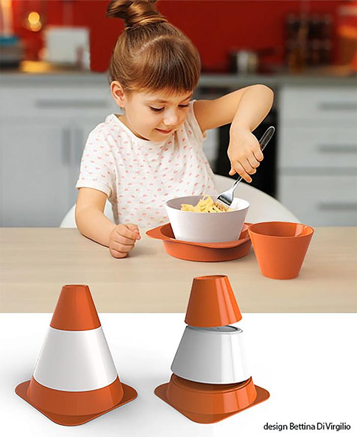 (複製)E-my|寶寶車車圖案陶瓷杯碗盤組