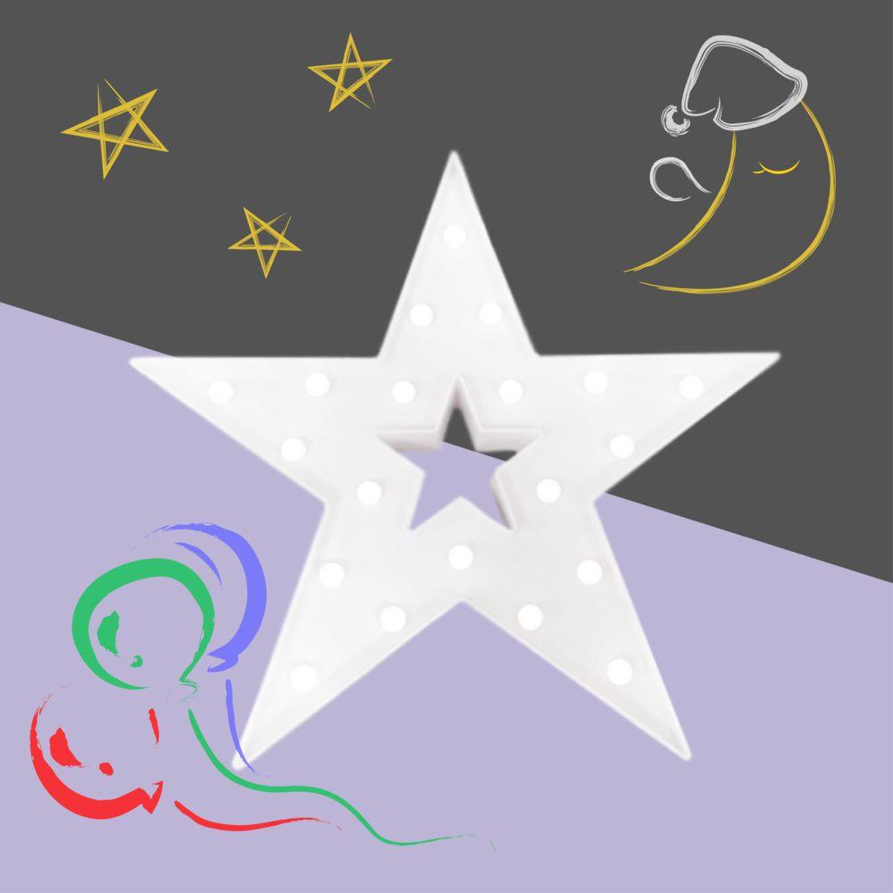 大力女|造型LED小夜燈-白色星星 (大)