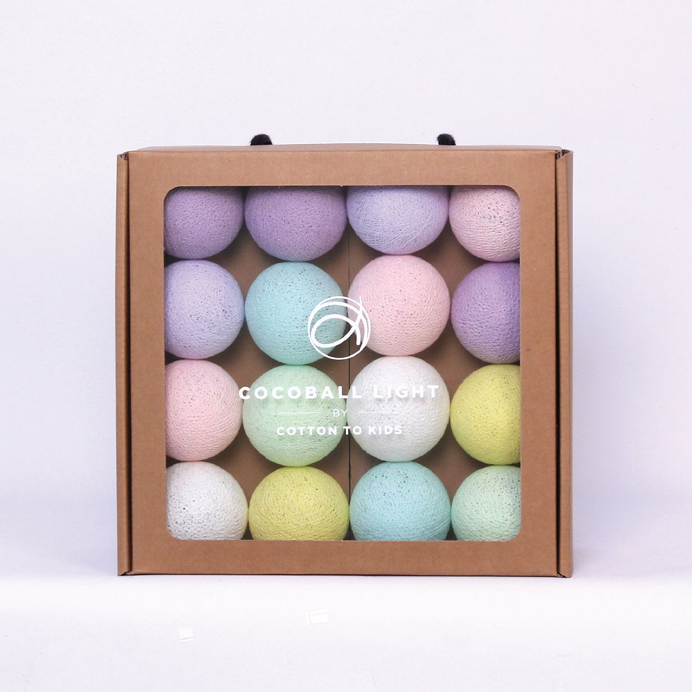 Cotton to Kids|Cocoball Light LED氣氛棉球燈串(baby pastel)
