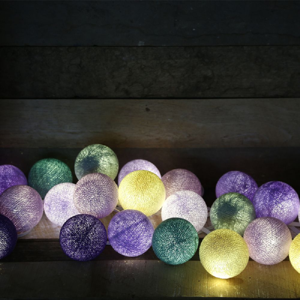 Cotton to Kids|Cocoball Light LED氣氛棉球燈串(rustic lavender)