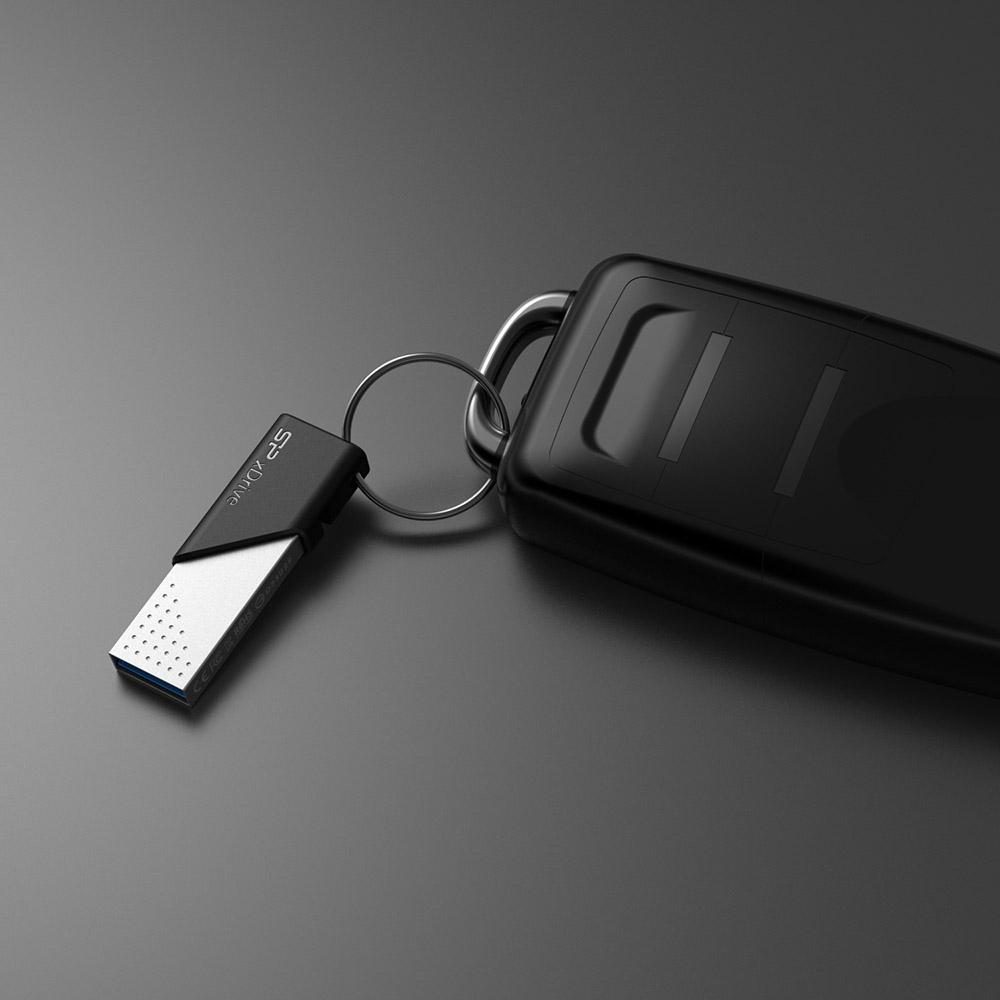 SP廣穎|SP xDrive Z50 蘋果iOS MFi 雙用隨身碟Lightning,USB 3.1-128GB(銀色)