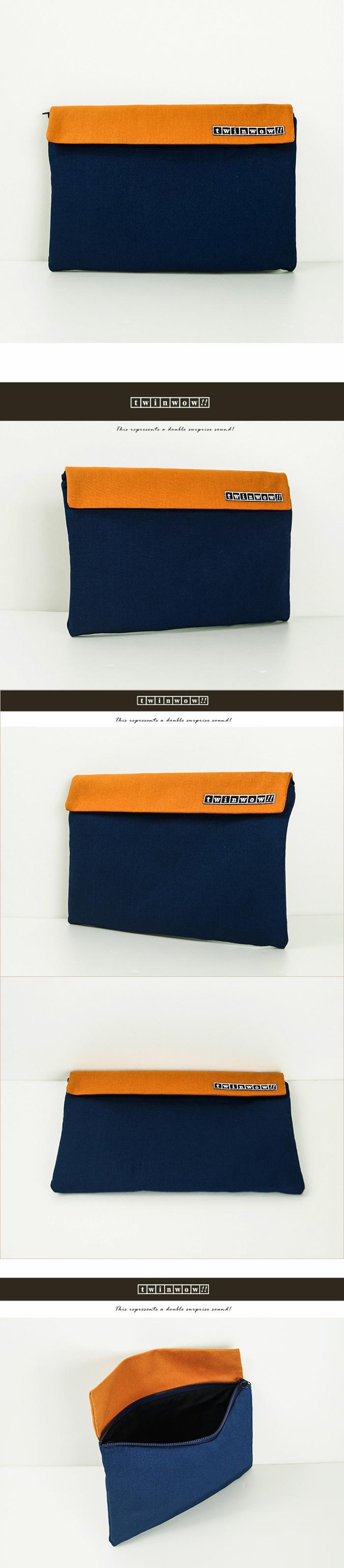 (複製)twinwow|時尚筆記 - 細緻質感平板包(點點黑)