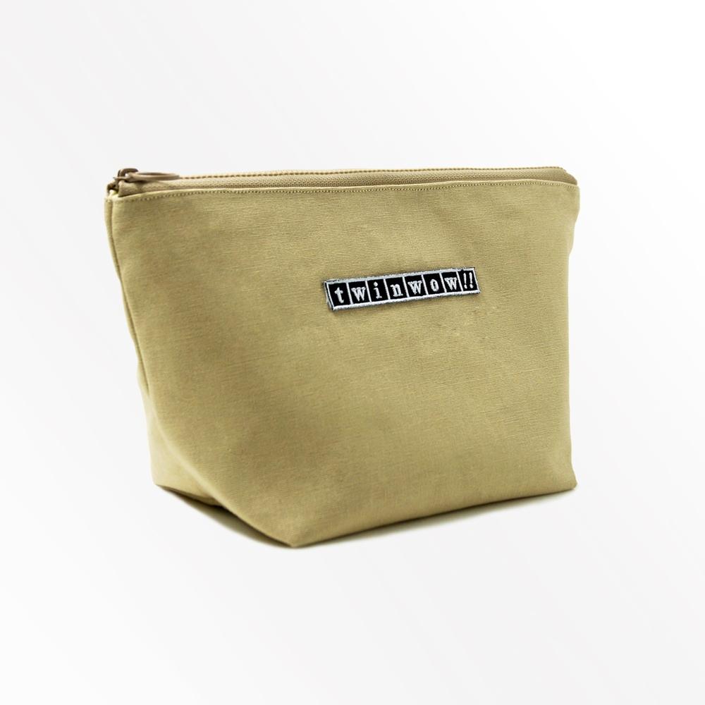 twinwow|貼心時尚 - 細緻質感化妝包(卡其褐)