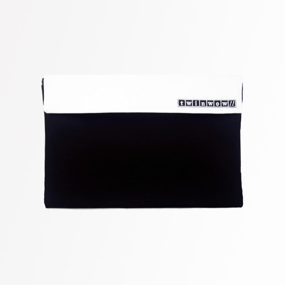 twinwow|時尚筆記 - 細緻質感平板包(時尚黑白)