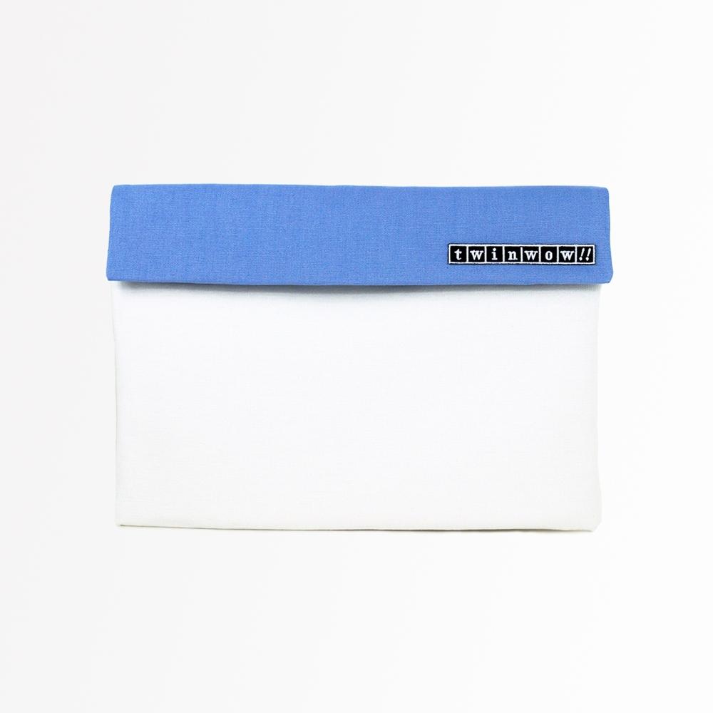 twinwow|時尚筆記 - 細緻質感平板包(玫瑰白藍)