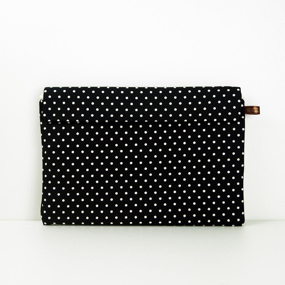 twinwow|時尚筆記 - 細緻質感平板包(點點黑)