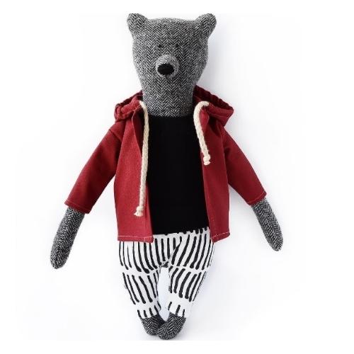 PK bears | 大熊連帽上衣 紅