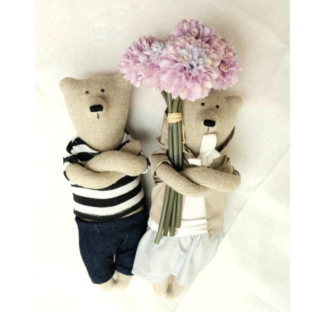 PK bears  小廚師&體貼對熊 23cm(附贈花束及立架)