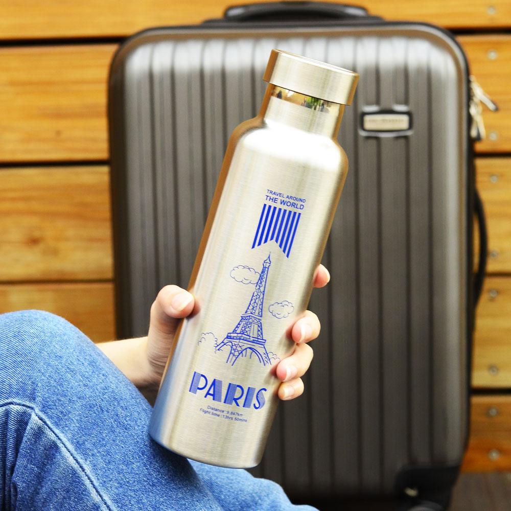 Driver|長效全鋼蓋真空保冰、保溫瓶(巴黎)600ml