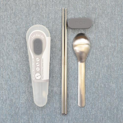 PO:|匙筷不銹鋼餐具組(白)