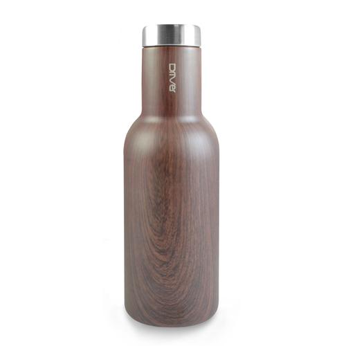 Driver 時尚冷熱兩用保溫瓶580ml-木紋 (附贈kuso貼紙二選一)