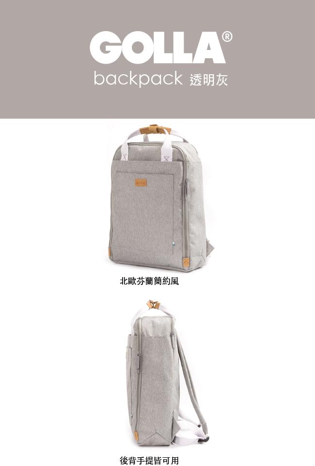 (複製)GOLLA   北歐芬蘭時尚極簡後背包15.6吋 G1765-日光黃