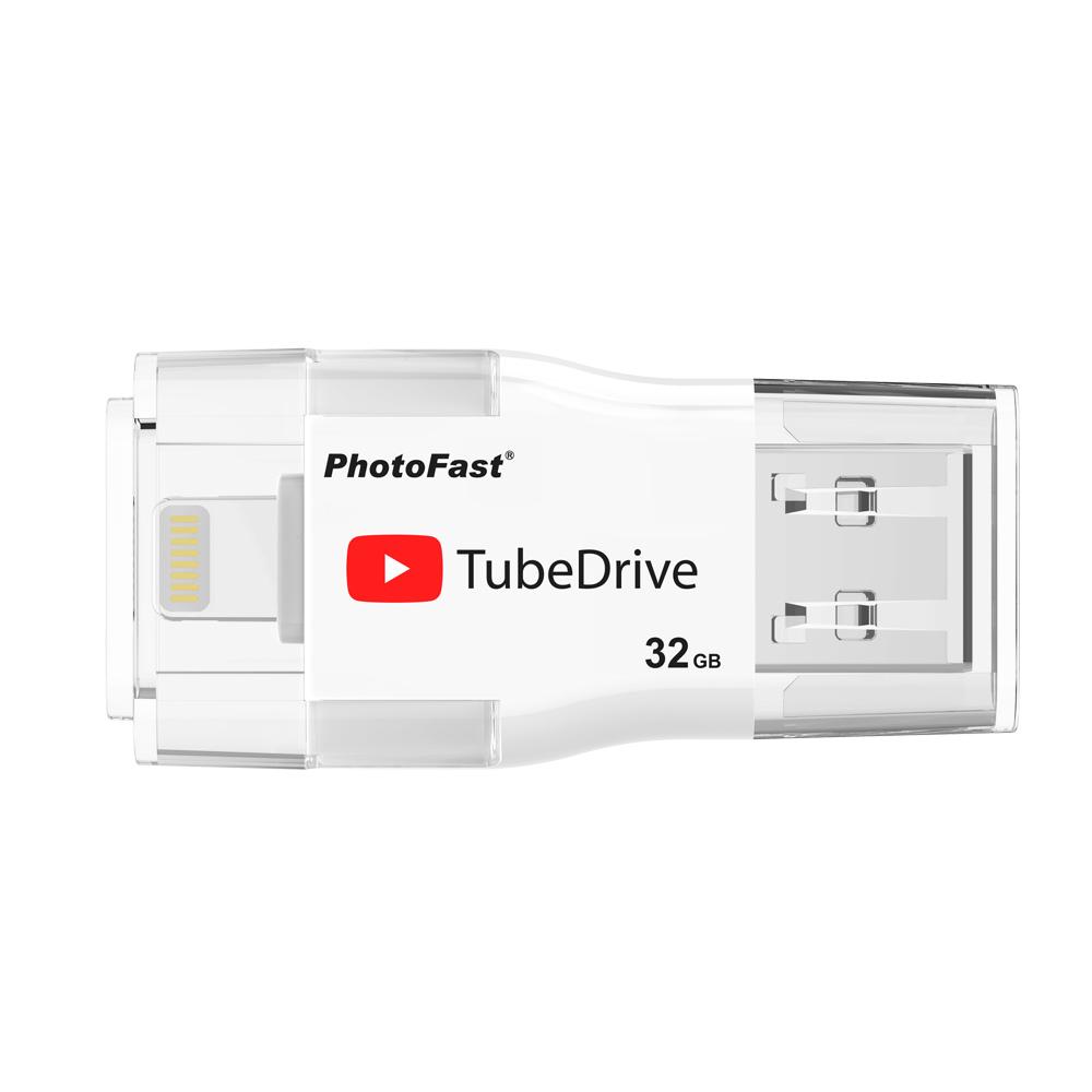Photofast | i-FlashDrive雙頭龍 TubeDrive 32G  ( USB3.1 )